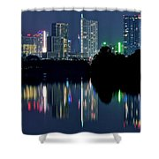 Austin Reflects In Ladybird Lake Shower Curtain