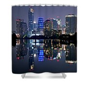 Austin Texas Mirror Image Shower Curtain