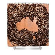 Australia Cafe Artwork Shower Curtain