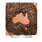 Australia Cafe Artwork Shower Curtain