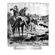Australia: Cowboys, 1864 Shower Curtain