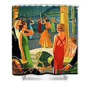 Australia, Romantic Night, Dance And Music, Hotel Terrace Shower Curtain