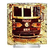 Australia Travel Tram Map Shower Curtain