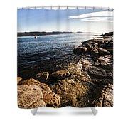 Australian Bay In Eastern Tasmania Shower Curtain