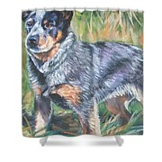 Australian Cattle Dog 1 Shower Curtain by Lee Ann Shepard