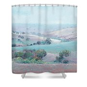 Australian Country Landscape Painting Shower Curtain