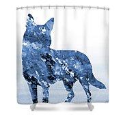 Australian Kelpie-blue Shower Curtain