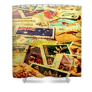 Australian Postal Background Shower Curtain