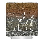 Australian Red Kangaroos Shower Curtain