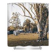 Australian Rural Countryside Landscape Shower Curtain