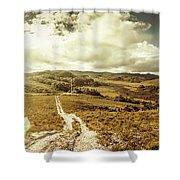 Australian Rural Panoramic Landscape Shower Curtain