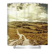 Australian Rural Panoramic Landscape Shower Curtain