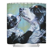 Australian Shepherd Mom And Pup Shower Curtain