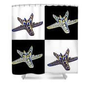 Australian Starfish Composite Design Shower Curtain