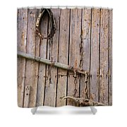 Austrian Barn Door Shower Curtain