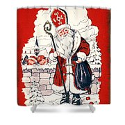 Austrian Christmas Card Shower Curtain