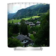 Austrian Landscape Shower Curtain