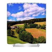 Austrian Rural Forest Vista Shower Curtain