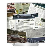Auto  Ad's Collage 1 Shower Curtain
