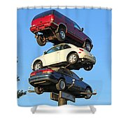 Auto Pile Up Shower Curtain