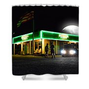 Auto Shop Shower Curtain