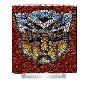 Autobot Transformer Bottle Cap Mosaic Shower Curtain
