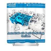Autocad Online Training Shower Curtain