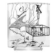 Automatism Shower Curtain