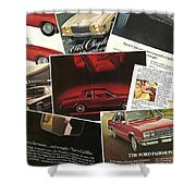 Automotive Ad's Collage 2 Shower Curtain
