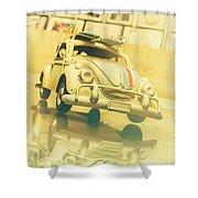 Automotive Memorabilia Shower Curtain
