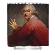 Autoportrait En Homme Surpris Et Terroris 1791 Shower Curtain