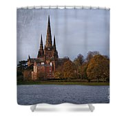 Autumn Lichfield Cathedral Shower Curtain
