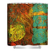 Autumen Abstract Shower Curtain