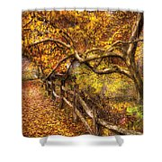 Autumn - Landscape - Country Road Side Shower Curtain
