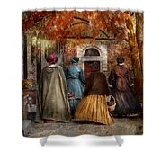 Autumn - People - A Walk Downtown  Shower Curtain