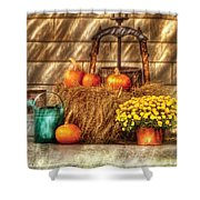 Autumn - Pumpkin - A Still Life With Pumpkins Shower Curtain