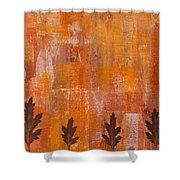 Autumn Abstract Art  Shower Curtain