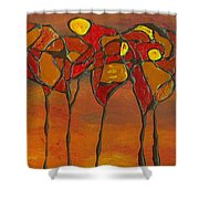 Autumn Abstract Shower Curtain