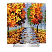Autumn Alley Shower Curtain