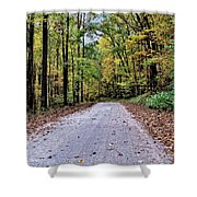 Autumn Along A Country Road 1 Shower Curtain