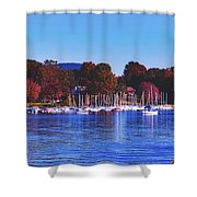 Autumn Along Lake Candlewood - Connecticut Shower Curtain