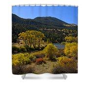 Autumn Along The Rio Grande Shower Curtain
