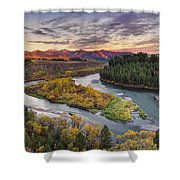 Autumn Along The Snake River Shower Curtain