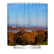 Autumn And The Hudson River Shower Curtain