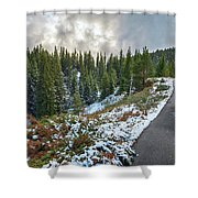Autumn And Winter In One Shower Curtain