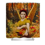 Autumn Angels Shower Curtain
