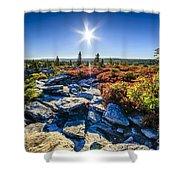 Autumn At Bear Rocks Shower Curtain