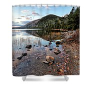 Autumn At Bubble Pond Shower Curtain