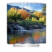 212m47-autumn At Cascade Springs  Shower Curtain