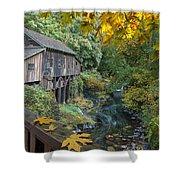 Autumn At Cedar Creek Grist Mill Shower Curtain